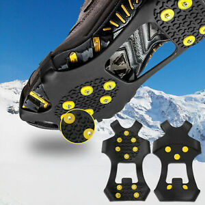 Ice Cleats Snow Grips Anti Slip On Over shoe Boot Studs Crampons Cleats