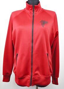 ATLANTA FALCONS Women's XL Jacket Full Zip Up Jumper Red NFL American Football