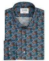 T.M.Lewin Mens Premium Liberty Fabric Little Eustacia Blue Single Cuff Shirt