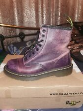 Dr Martens 8 hole Rare  distressed look purple boots Size 5 or 5.5