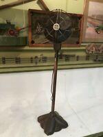 Vintage Art Deco Westinghouse Floor Stand Oscillating Copper Upright & Cast Base