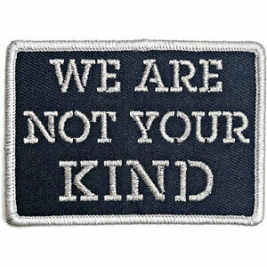SLIPKNOT - WE ARE NOT YOUR KIND STENCIL - WOVEN SEW OR IRON ON PATCH - OFFICIAL