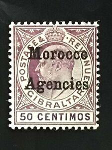Morocco Agencies stamp EVII 50c purple MH
