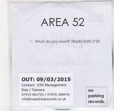 (GF229) Area 52, What Do You Want? - 2015 DJ CD