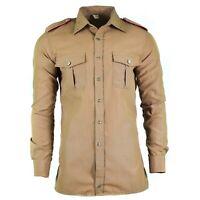 Original Italian military police shirt long sleeves Khaki Italy carabinieri
