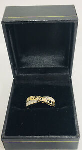 Estate Jewelry 10Kt Yellow Gold  I LOVE YOU Ring with Diamond Accent Sz7