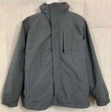 LL Bean 2 in 1 Hooded Full Zip Jacket Coat Parka w/ Zip Out Liner Sz L Gray EUC