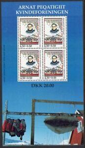 Greenland Scott #B23a VF MNH 1998 Women's Society Souvenir Sheet