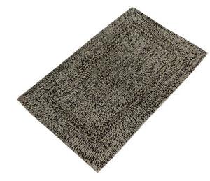 100% Cotton two tone Chenille Loop Bath Mat / bath Rug 50x80 cm in 4 Colours