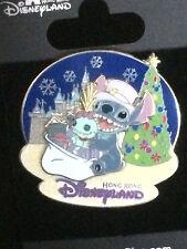 Disney HKDL - Christmas 2007 - Stitch & Scrump Pin