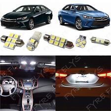 12x White LED lights interior package kit for 2015 & Up Toyota Camry TC5W