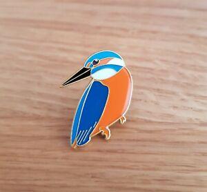 KINGFISHER BIRD ENAMEL PIN BADGE