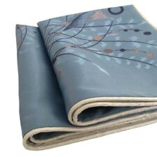 2 pcs Blue Queen Size Jacquard Satin Meadow Reeds Pillow Cases/Cushion Covers