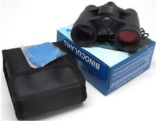 4x30 Mini Binoculars with Carrying Case- Black w/ Ruby Lense 4x30-ffb
