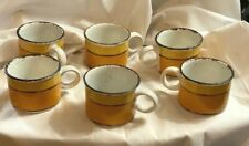 Stonehenge Midwinter Sun Squat Flat Cups Mugs Set of 6