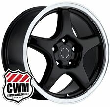 "OE Performance 103B 17 inch 17x9.5"" Corvette C4 ZR1 Wheels Rims Black C4 1988-96"
