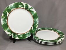 "Florida Marketplace - PALM ISLAND - 10-3/4"" Dinner Plate - Tropical - SET OF 4"