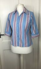 Thomas Pink Women's Shirt Blouse Size 14 Fitted Striped *Hardly Worn*