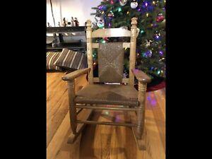 Cracker Barrel Wood Child's Rocking Chair
