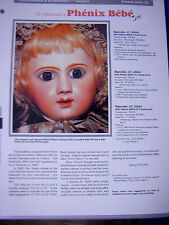 Seeley's Dollmaker'S Worksheet - Phenix Bebe by H. Alexandre French Doll