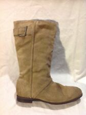 Zara Brown Mid Calf Suede Boots Size 40