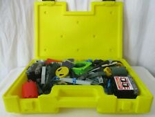Vintage 1983 Construx Fisher Price Connectors Toys Lot With Yellow Case