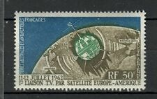 FRENCH AUSTR ANTARCTIC MNH 1966 Satellite Telstar 1v  s27469