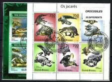 Crocodiles 25 timbres différents oblitérés