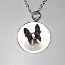 Französisch Bulldog french bulldog Hund dog Halskette Necklace -EMBG1 - NEU!