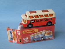 Lesney Matchbox Superfast 65 Airport Coach Schulbus German Rare