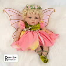 Paradise Galleries Reborn Baby Fairy Doll - Petal Pixie, 16 inch in GentleTouch™