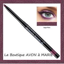 Crayon LIGNEUR pour yeux Scintillant MAUVE PRUNE DIAMOND Sugar Plum AVON NEUF