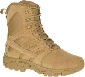 """Merrell MOAB 2 Defense 8"""" Tactical Size 9.5 Coyote Leather Military Boot J099355"""