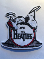 Snoopy the beatles cartoon Dog Embroidered Patch Iron On 2.5x 3 inches #141