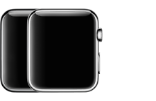 Reloj de Apple de 1st generación - 38mm/42mm Acero Inoxidable en gris espacio/Plata/Oro