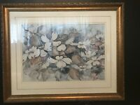 S Hammilton Wild Dogwood Flowers Signed and Numbered Art Print