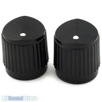 (2) Black Bevel Top Steinberger® Style Knobs for Guitar or Bass - NEW
