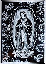 SANTA CRUZ Jason Jessee Guadalupe Skateboard Sticker - Black & White - 15cm