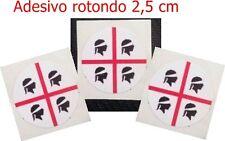 Adesivo 4 Mori Targa Sardegna Souvenir Macchina Moto Rotondo Diametro 2,5 cm