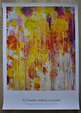 """Cy Twombly  """"untitled"""" flowers abstraction original large poster mint"""