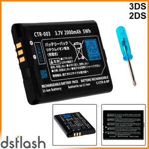 Bateria Nintendo 3DS / 2DS Compatible CTR-003 3.7V 2000mAh Repuesto Reemplazo