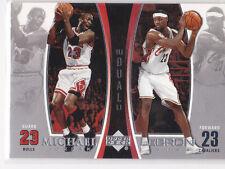 Michael JORDAN & LEBRON James RARE INSERT CARD Basketball DUAL LE $$ Bulls Heat!
