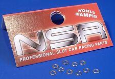 """NSR Distanzringe 0,25mm für 2,38mm Achsen 10er Set """"MESSING""""              804811"""