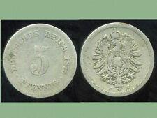 ALLEMAGNE 5 pfennig  1875 J   ( bis )