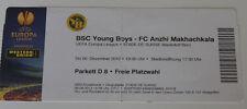 OLD TICKET EL Young Boys Bern Switzerland Suisse Anzhi Anji Makhachkala Russia