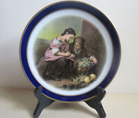 "7 1/2"" Decorator Plate w/ Stand- Bartolome Esteban Murillo- Girls Counting Money"