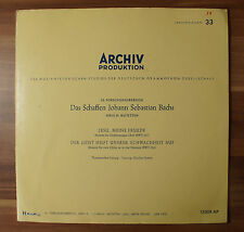 """10"""" LP Vinyl Archiv Produktion Das Schaffen Johann Sebastian Bachs 13008AP TOP!"""