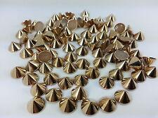 CraftbuddyUS 100pcs 8mm Rose Gold Hotfix Cone Spike Studs  DIY Gems, Stick on