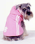 Dog coat hoodie JACKET 20-40cm small- Xlarge dogs, cotton pink with trim NEW