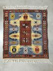 """Vintage Kazak Rug 33""""x29"""" - Age unknown -Thick and tight Weave"""